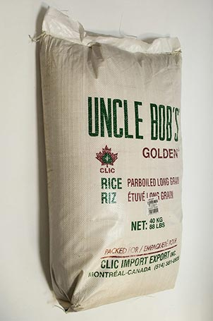Uncle Bob's Parboiled Rice 40 Kg