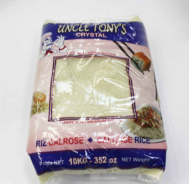 Uncle Tony's Riz Crystal Calrose 10 Kg
