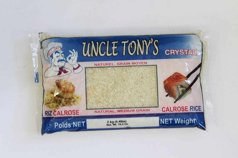Uncle Tony's Riz Crystal Calrose 6/2 Kg