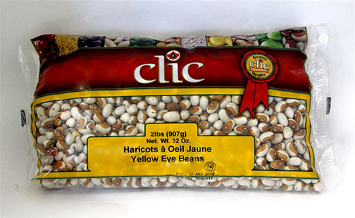 Clic Yellow Eye Beans 12/2 Lbs