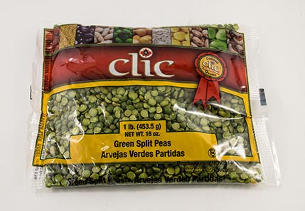 Clic Green Split Peas 24/1 lb
