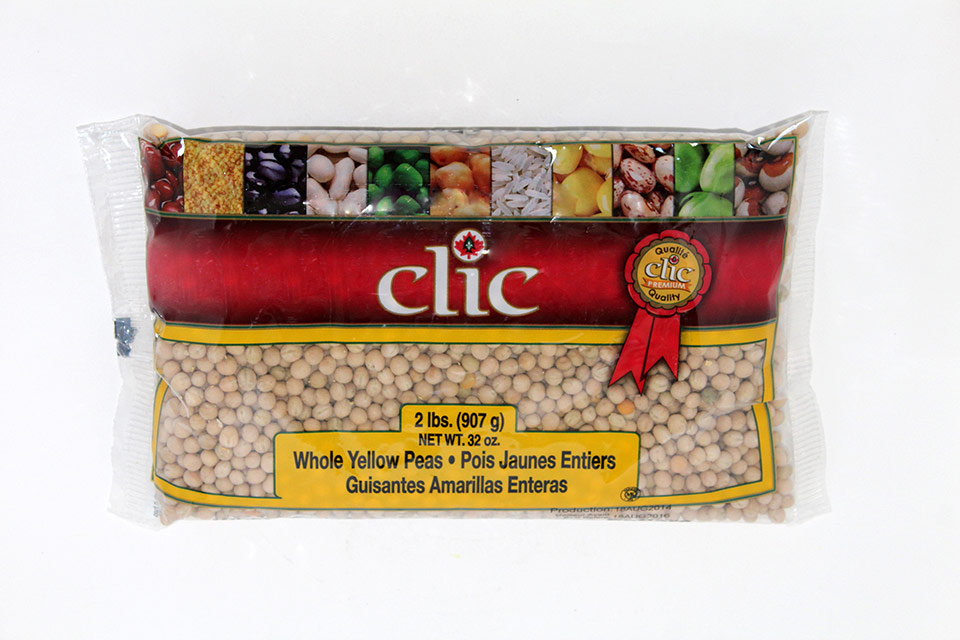 Clic Whole yellow peas 12/2 lbs