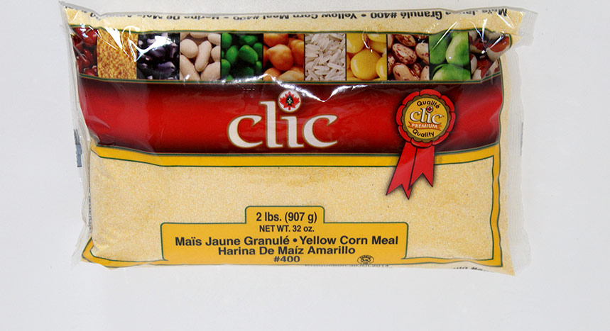 Clic Yellow Corn Meal # 400 12/2 lbs