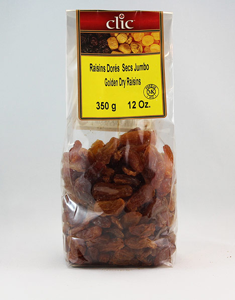 Golden Dry Jumbo Raisins 12/350 g
