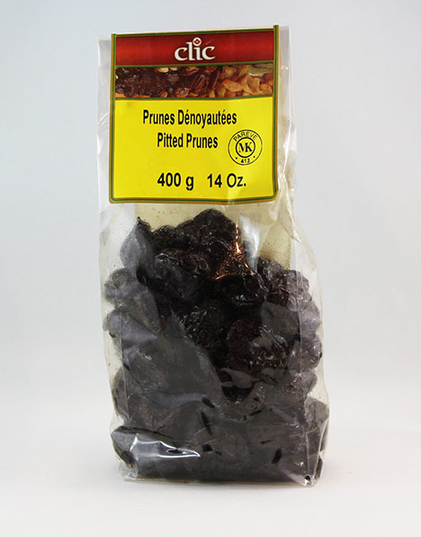 Clic Pitted Prunes 12/400 g