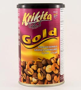 Krikita Gold Nuts Tin 12/454g T