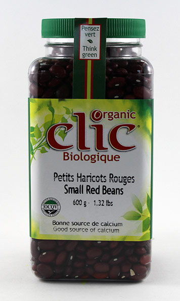 Clic Organic Small Red Beans 6/600 g